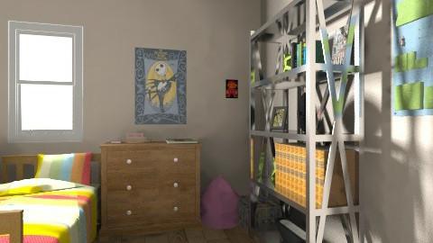 College 2 room dorm - Vintage - by TeilaThommen123
