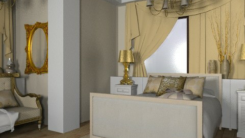 Golden - Glamour - Bedroom - by dominicjames