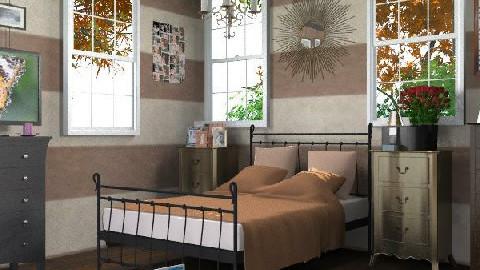 Chocolate Wonder - Rustic - Bedroom - by deleted_1519128424_HeatherInWonderl