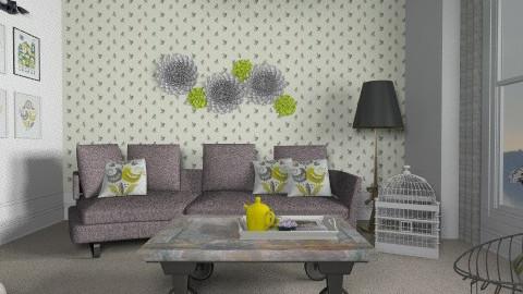 Little bird - Vintage - Living room - by ovchicha