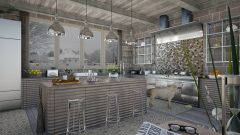 Design 51 Gray Kitchen in Winter - Kitchen - by Daisy320