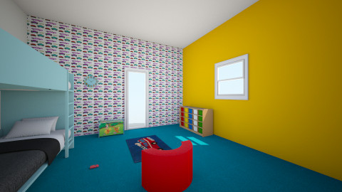 BABY ROOM - Minimal - Kids room - by karmen411