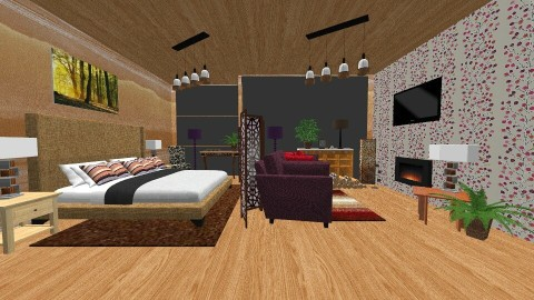 open plan studio flat - Modern - Living room - by Suzanne Hoskins