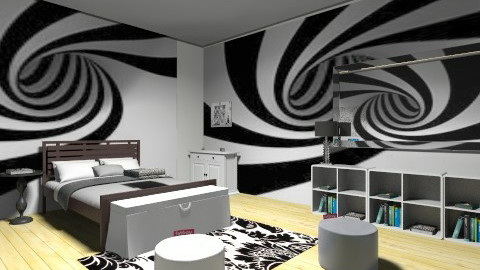 Black and White - Modern - Bedroom - by KennaRee