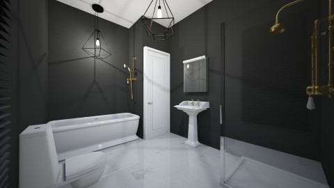 banheiro masculino  - Country - Bathroom - by kelly lucena