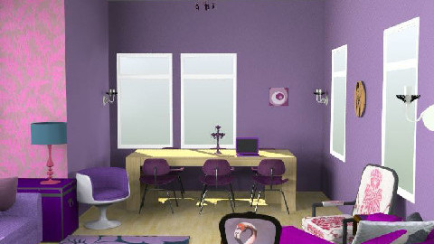 Purple Luxury - Living room - by Surfinchic1