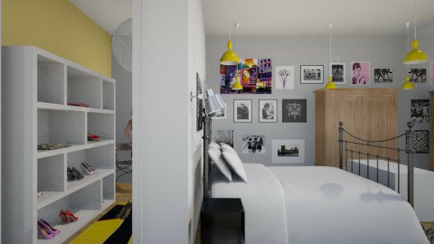 Yellow Dressing Room - Glamour - Bedroom - by merida 13