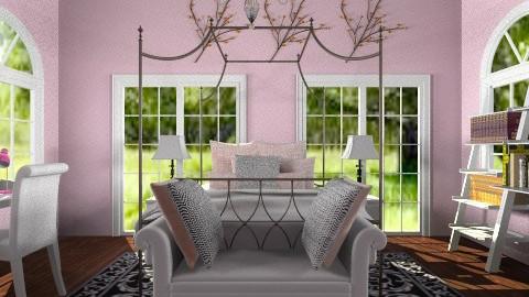 pink and black room - Feminine - Bedroom - by dancergirl1243
