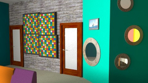 Big Brother Living Room view 3 - Retro - Living room - by designerrich123