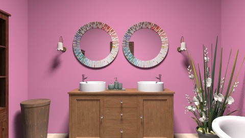 Rose Multi - Eclectic - Bathroom - by Addie Smooches
