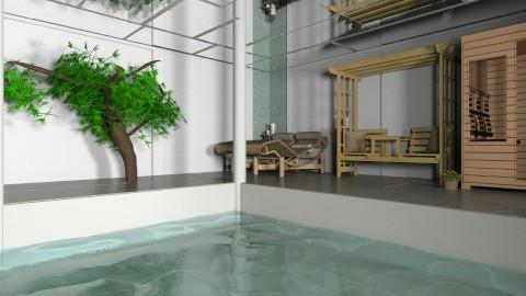 indoor pool and sauna  - Minimal - Office - by mimiB