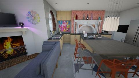 Family kitchen - Kitchen - by The quiet designer