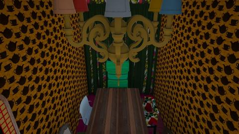 Alice in wonder land  - Dining room - by shaun the emu