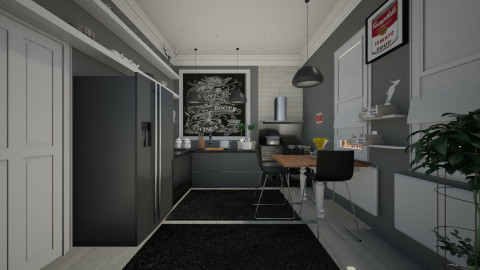 black kitchen - Modern - Kitchen - by sometimes i am here
