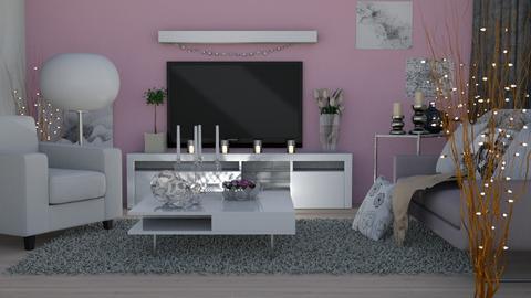 pink light - Living room - by Anet Aneta Kucharova