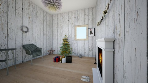 Modrn Christmas - Modern - Living room - by WikiKitty