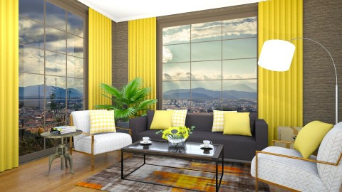 Yellow detail - Living room - by jarkaD