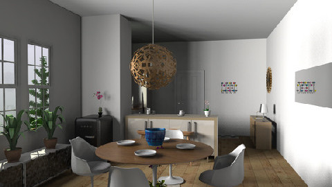 Sarahs KitchenDining Print - Eclectic - Kitchen - by TV Renders