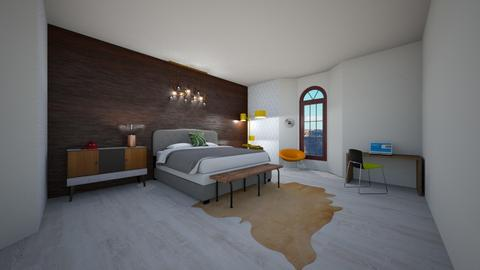 Wall Test - Rustic - Bedroom - by ClaireCora