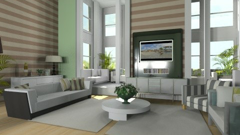 Green - Eclectic - Living room - by bia_freitas