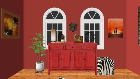 jungle living room - Living room - by lucypark_