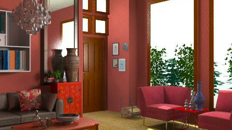 Red - Eclectic - Living room - by minerva8a