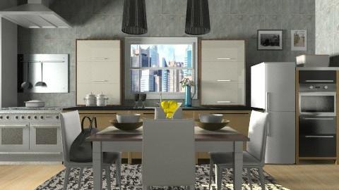 city comfort kitchen room - Modern - Kitchen - by vesperart