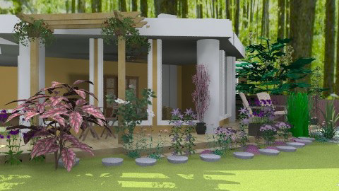 Cabin in the Woods 2 - Country - Garden - by PomBom