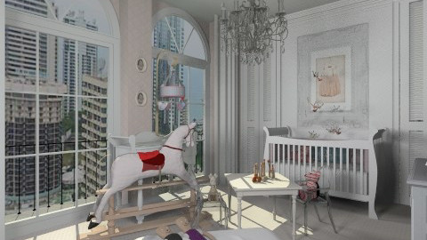 Baby Pink - Classic - Bedroom - by Nataliyaa_Sealey