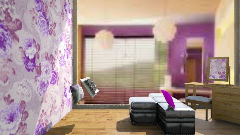 floral - Bedroom - by lennielove