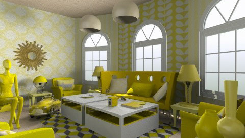 mellow yellow - Glamour - Living room - by aduropluvia