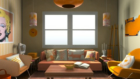 orange you happy - Retro - Living room - by aduropluvia