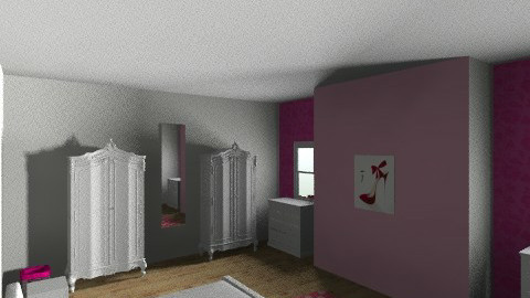pink bedroom - Bedroom - by danielle87terry87