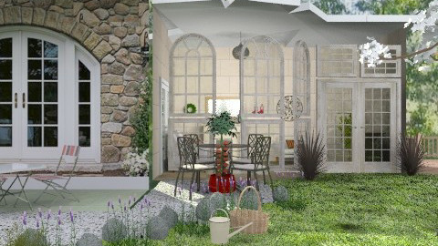 Garden with swimming pool - Classic - Garden - by milyca8