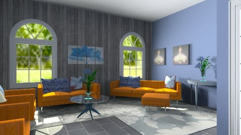 orange life - Feminine - Living room - by dancergirl1243