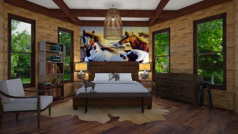 horse room - Bedroom - by LooseThreads