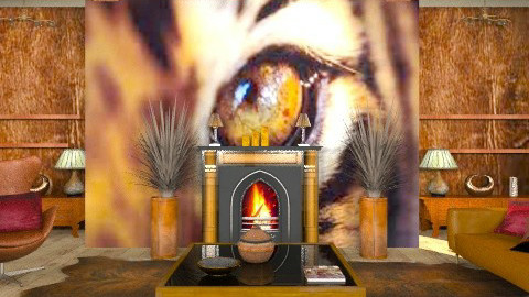 eye of the tiger - Country - Living room - by trees designs
