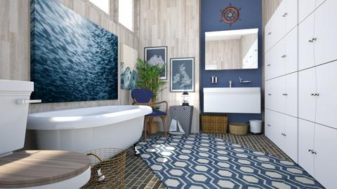 Nautical Bathroom - Bathroom - by amyskouson