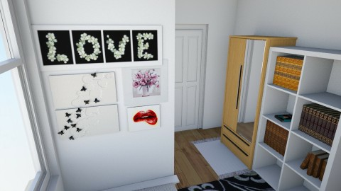 Photo wall in bedroom - Bedroom - by Spannergee