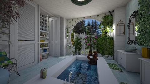 birdbath - Feminine - Bathroom - by donella