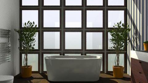 Blue Striped Bathroom - Classic - Bathroom - by Carliam
