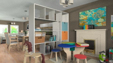 For JMLAT 1 - Eclectic - Kids room - by Theadora