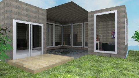 Modern Stone Home - Modern - by vanessa_designs