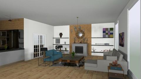 brown livingroom - Living room - by Rechoppy92