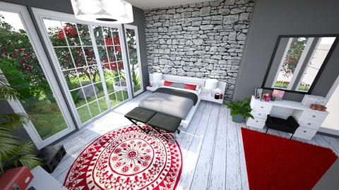 Red Bedroom 2 - Modern - Bedroom - by banusitki