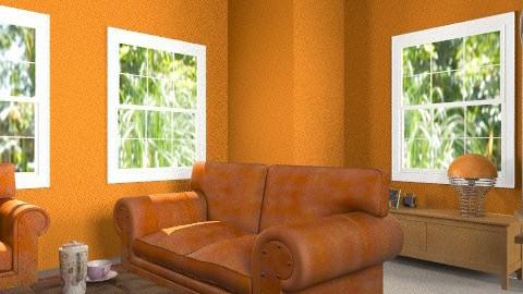 Orange room - Retro - Living room - by eleanordaisy_