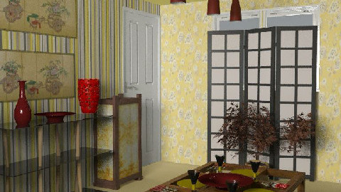 RR18_2 turning japanes - Dining Room - by chezzamc
