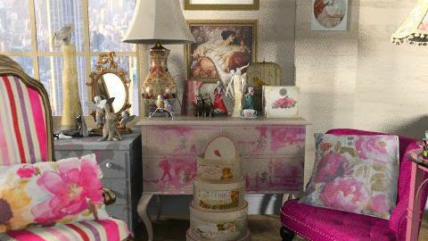 I Love Iris Apfel  - Vintage - Living room - by annagunbina