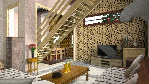 house in the forest - Rustic - Living room - by lakacs28