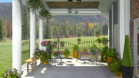 Posh Garden porch - Classic - Garden - by shelleycanuck